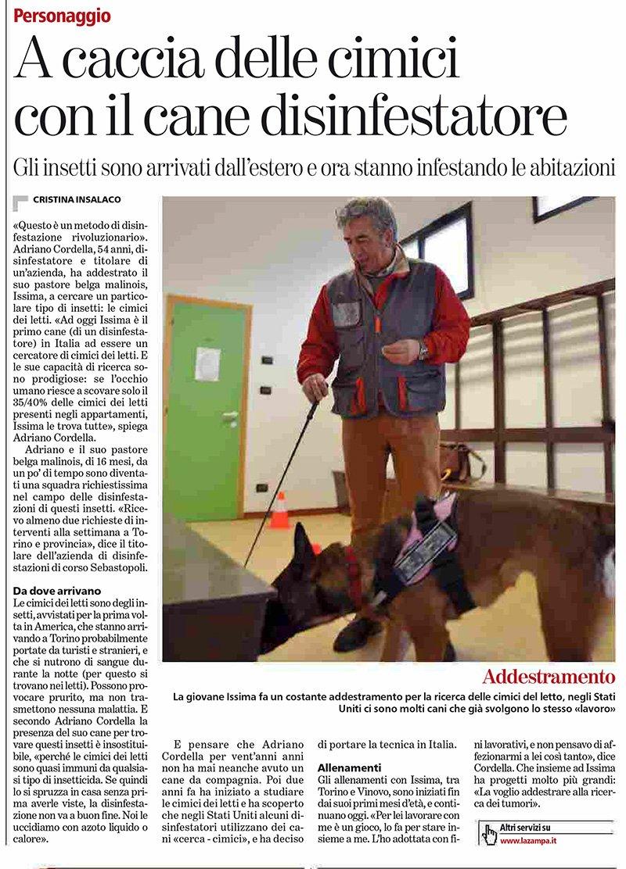 Issima-Cane-Cerca-Cimici-dei-Letti-Cordella-Disinfestazioni-Torino-Articolo-La-Stampa